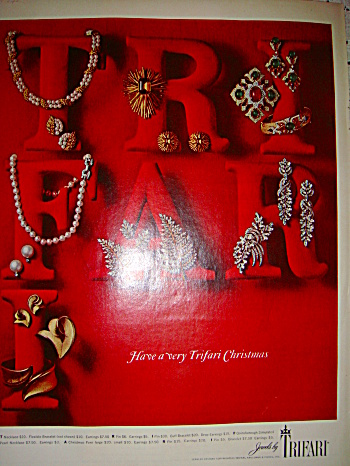 Jewels By Trifari Ad For Christmas 1965