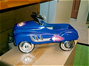 Blue 1:3 Hot Rod Pedal Car