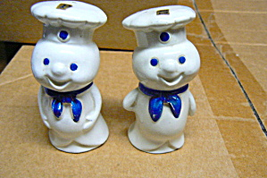 Pillsbury Doughboy W/blue Ties Salt & Pepper