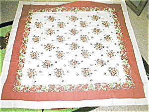 Vintage Pattern Cherry Apple Tablecloth Fruit