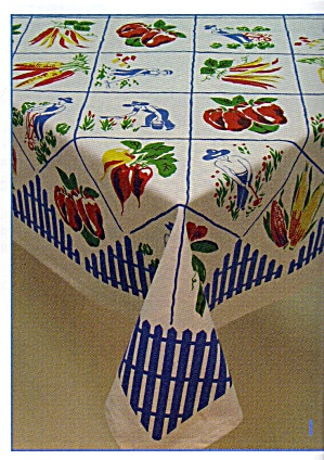Vintage Pattern Fruit & Vegetable Tablecloth