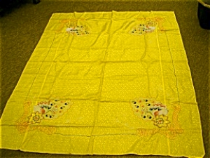 Japanese Embroidered Tablecloth And Napkins