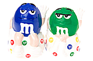M & M Cute Blue And Green Salt & Pepper Set