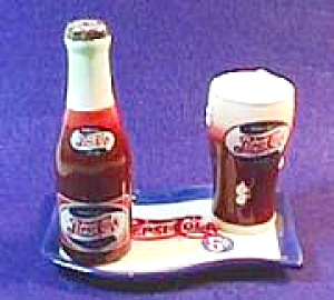 Pepsi Cola 3 Pc. Salt & Pepper Set