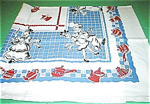 Vintage Pattern Of Chef's Surprise Tablecloth