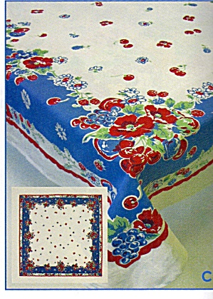 Vintage Pattern Cherry, Flowers Tablecloth