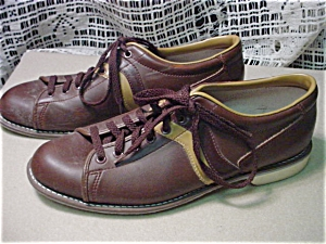 Mens Vintage Brown Bowling Shoes