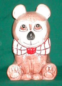 Weiss Bow-tie Bear Cookie Jar