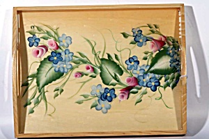 Hand Painted Serving Tray With Protective Finish