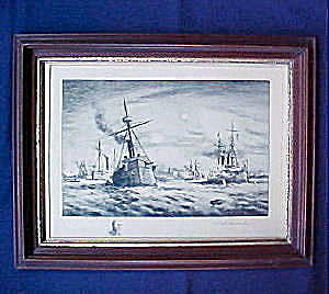 Battle Of Manila Bay - Vanderhoof Etching