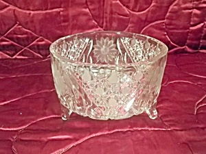 Three Footed Glass Compote