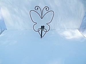 Wrought Iron Butterfly Candle Holder