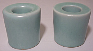 Pacific Pottery Early Green Candlesticks