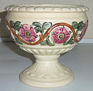 Weller Pottery Roma Floral Decorated Compote