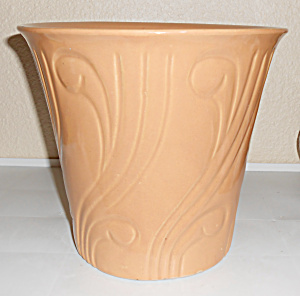 Pacific Pottery Early Art Deco 8+ Apricot Flower Pot