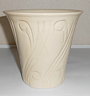 Pacific Pottery Early Art Deco 5-3/4 Ivory Flower Pot