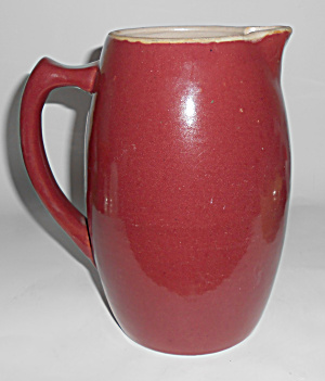 Zanesville Stoneware Pottery Gloss Rose #43 Pitcher