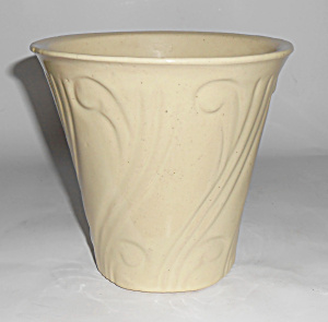Pacific Pottery Early Art Deco 5.75 Ivory Flower Pot