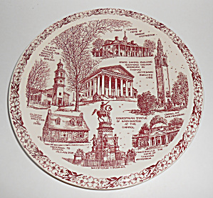 Vernon Kilns Pottery Historical Virginia State Plate