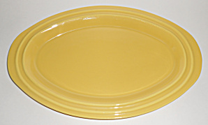 Pacific Pottery Hostess Ware Oval Yellow Platter #444