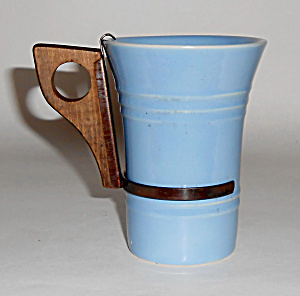 Pacific Pottery Hostess Ware Lt Blue Tumbler W/handle