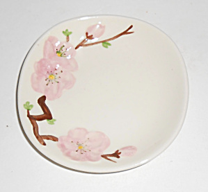 Metlox Pottery Poppy Trail Peach Blossom Coaster Mint