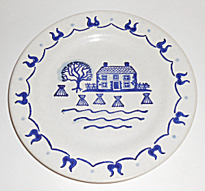 Metlox Pottery Poppy Trail Provincial Blue Salad Plate