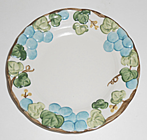 Metlox Pottery Poppy Trail Sculptured Grape Bread Plate