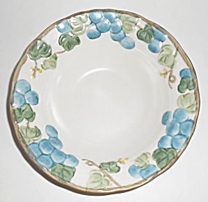 Metlox Pottery Poppy Trail Sculptured Grape Cereal Bowl