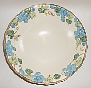 Metlox Pottery Poppy Trail Sculptured Grape Salad Bowl