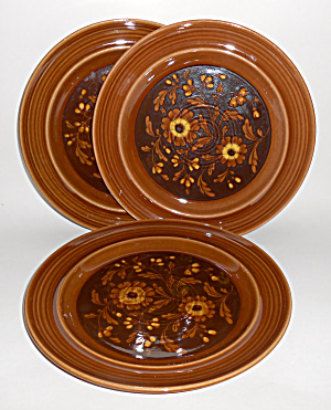 Metlox Pottery Poppy Trail Set/3 San Clemente Dinner Pl