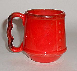 Metlox Poppy Trail Pottery Red Rooster Cocoa Mug Mint