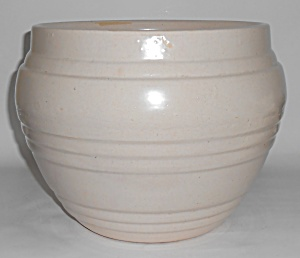 Pacific Pottery Early White Large Banded Jardiniere