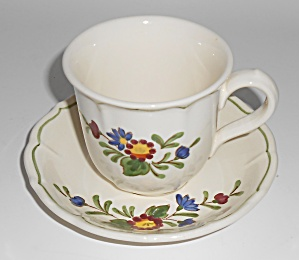 Metlox Pottery Poppy Trail Quail Ridge Cup/saucer Set