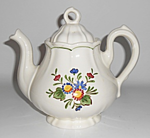 Metlox Pottery Poppy Trail Quail Ridge Teapot Mint