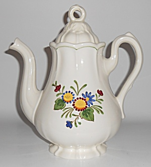 Metlox Pottery Poppy Trail Quail Ridge Coffeepot Mint