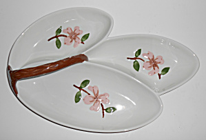 California Ceramics Orchard Ware Dogwood Hor D'oeurve