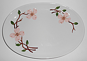 California Ceramics Orchard Ware Dogwood Platter Mint