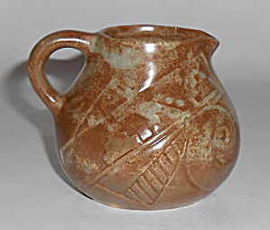 Vellona Star Pottery Southwest Design Demi Creamer Mint