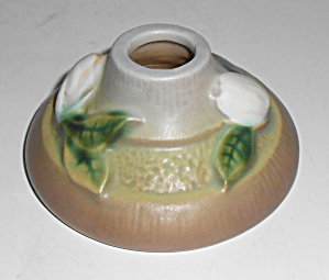 Roseville Pottery Gardenia Candlestick Holder Mint
