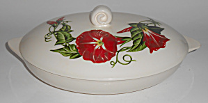 Santa Anita Ware Pottery Scarlet Morning Glory Covered
