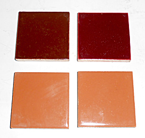 Franciscan Pottery Hermosa Set/4 Sample Tiles