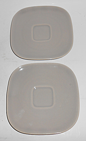 Franciscan Pottery Tiempo Stone Pair Saucers
