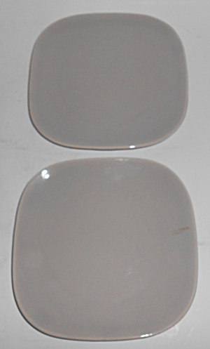Franciscan Pottery Tiempo Stone Pair Bread Plates