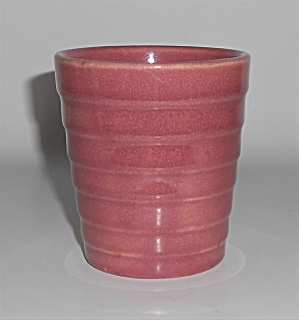 Meyers Pottery California Rainbow Rose Ring Tumbler