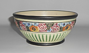 Weller Art Pottery Zona Floral Decorated Bowl/vase