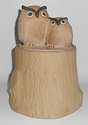 Metlox Pottery Pottery Poppy Trail #535 Owls Cookie Jar