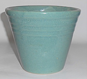Monmouth Pottery Green Banded Flower Pot
