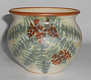 Bennett Welsh Studio Pottery Handmade Fern Decorated