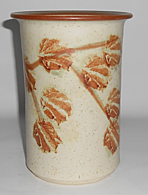 Bennett Welsh Studio Pottery Handmade Leaf Decorated Va